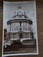 The Radcliffe Camera OXFORD OXFORDSHIRE B/W Real Photo English Series Postcard