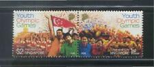 SINGAPORE 2008 HOST CITY OF 1ST YOUTH OLPYMICS GAMES SE-TENANT SET 2 STAMPS MINT