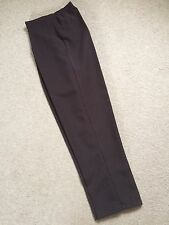 Dark Brown Semi Elasticated Waist Trousers / Hip Pockets - Size 26 ** NEW **