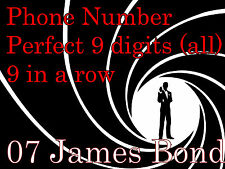 """007 mobile telephone number spells """"James Bond"""" WordSpell  =9 letters in a row="""