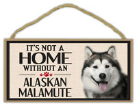 Wood Sign: It's Not A Home Without An ALASKAN MALAMUTE | Dogs, Gifts