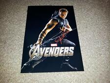 "THE AVENGERS PP SIGNED 12""X8"" POSTER IHAWKEYE JEREMY RENNER"