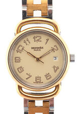 Hermes Two Tone Metal H Link Water Resistant Arceau Wrist Watch WP3488 MHL