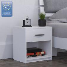 2x Comodino con cassetto Comodino per camera da letto in rovere bianco