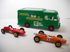 Lesney Matchbox Restored K-5 Race Car Tansporter w/Orange#19 Lotus/Red#52BRM