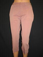 Femmes Stefanel Pantalon Extensible capri marron Taille 38(34) carotte