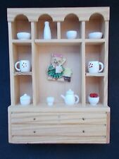 Dolls House Miniature 1/12th Scale Pine Kitchen Dresser