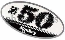 Honda Checkered Side Cover Sticker suitable for use with Monkey Bike Motorcycles