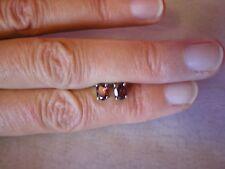 Rhodolite Garnet, stud earrings, 1.2 carats in 0.9 grams 925 Sterling Silver