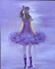 """Stunning Oil on Canvas Painting """"Party Girl"""""""
