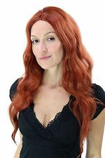 Wig sexy bright RED Middle part wavy IRISH RED Wig YZF-4072-350