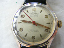 VERY RARE VINTAGE WAKMANN AUTOMATIC GENTS WATCH c1940s 17 JEWELS ALL STAMPED