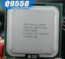 Intel® Core™2 Quad Processor Q9550 (12M Cache, 2.83 GHz, 1333 MHz FSB)
