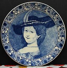 """Keramik Wandteller """" Die Frau von Rembrandt """" !!! Delfts - Holland !!!"""