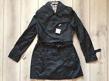 new 100 % authentic BURBERRY women black trench coat Size XXL ( It-44)