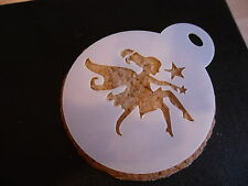 Laser cut small fairy design cake, cookie,craft & face painting stencil