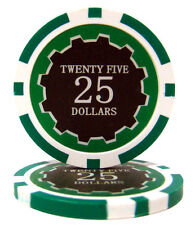 100 Green $25 Eclipse 14g Clay Casino Poker Chips New