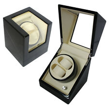Automatic watch winder box case storage display dual 2 AC battery power rotation