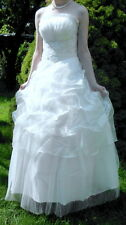 Brautkleid  Standesamt Hochzeit  Kleid weiß  Gr.  42 44 46  M L XL