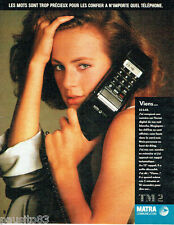 PUBLICITE ADVERTISING 016  1985   MATRA  communcation  téléphone TM2