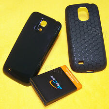 3in1 Extended Battery Thicker Cover Case for Samsung Galaxy S4 mini I9190L Phone
