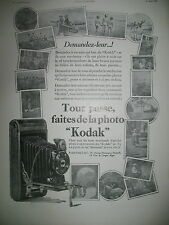PUBLICITE DE PRESSE KODAK APPAAREIL PHOTO BROWNIES FRENCH AD 1930