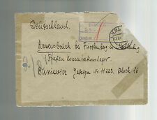 1944 Lublin Poland Cover to Ravensbruck Germany Concentration Camp Y Burniewicz