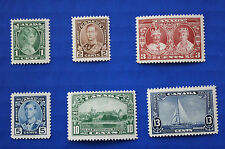 CANADA  (#211-216) 1935 King George V Accession to Throne MNH singles set