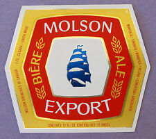 Molson Breweries of Canada MOLSON EXPORT foil beer label CANADA 12oz