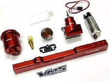WALBRO FUEL PUMP GAUGE RAIL REGULATOR FILTER FOR 96-00 HONDA CIVIC B-SWAP RED