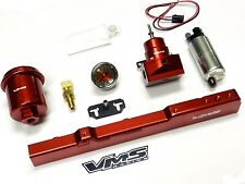 WALBRO FUEL PUMP GAUGE RAIL REGULATOR FILTER FOR 96-00 HONDA CIVIC D16 RED