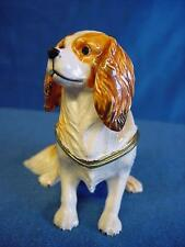 JULIANA TREASURED TRINKETS CAVALIER KING CHARLES SPANIEL DOG TRINKET BOX 15437