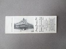 Vintage BOOKMARK ABERDEEN Isaac Benzie Ltd Department Store 1950s Bryant May