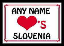Love Heart Slovenia Personalised Mousemat