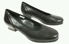 X Sensible womens black leather liquicell shoes UK 6.5