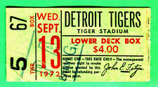 9/13/72 ORIOLES/TIGERS TICKET STUB-FRANK HOWARD HR #370 (1ST HR ON TIGERS)-4 RBI