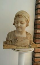 Primo Premio Lady Woman Statue Marble Bust Sculptor Signed Prof G Bessi Giuseppe