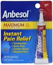 2 Pack - Anbesol Gel Maximum Strength 0.33oz Each