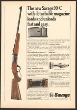 Vintage 68 magazine ad 6813 for Savage 99-C lever action rifle