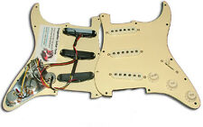 Dragonfire Prewired-Loaded Strat Pickguard SSS, 3 Ply Ivory/Cream with Cream
