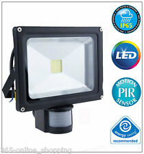 IP65 LED Floodlight 20W PIR Motion Sensor Security Flood Light Mains Operated