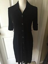 Chicos Travelers 0 Black Dress Knee Length Career No Belt Slinky Classic