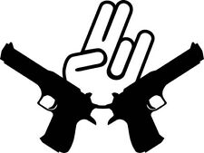 "SHOCKER GUNS JDM Vinyl Decal Sticker-6"" Wide White Color"