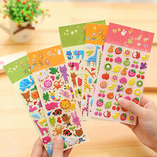 2 Sheet 3D Puffy Bubble Stickers Scrapbook Cartoon Birthday Gift Collection Hot