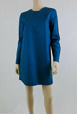 NWT $150 KATE SPADE SATURDAY Cross Over Shirt Dress Long Sleeve Cotton Blue M