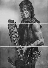 Daryl Dixon Walking Dead Giant section Poster 260gsm 126cm x 89cm