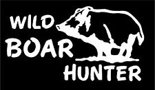 WHITE Vinyl Decal Wild Boar Hog Pig piglet hunt hunting country truck sticker