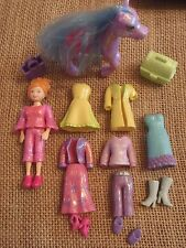 Polly Pocket Lot Doll Glitter Sparkly Sparkle Clothes Outfits Shoes Pet Lot F26