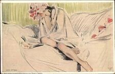Wera V Bartels - Sexy Young Woman Unbuttoned Robe Reading on Bed PC