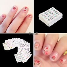 New 50 Sheets Mixed Flower Butterfly Design Nail Art Water Transfer Stickers LM